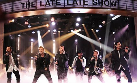 backstreet boys at james corden late late show