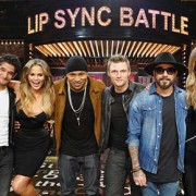 gigi hadid met backstreet boys aj mclean en nick carter bij lip sync battle