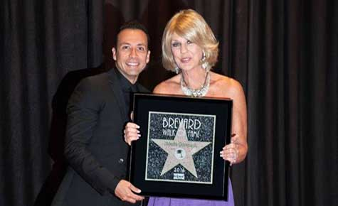 howie dorough bij brevard walk of fame ceremonie